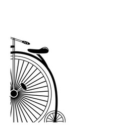 partial corner style minimal vintage style bike vector image