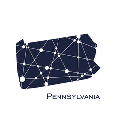 pennsylvania state map vector image