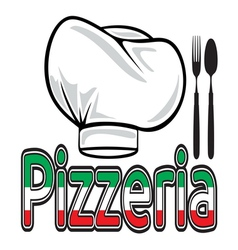 Pizzeria sign vector