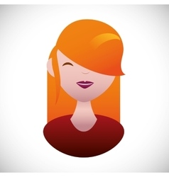 Pretty young woman with red hair g vector image