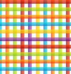 Rainbow colored pinstripe vector image