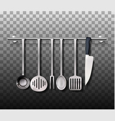 Realistic cutlery set vector