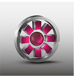 Red cog futuristic logo vector