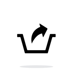 Remove from basket simple icon on white background vector