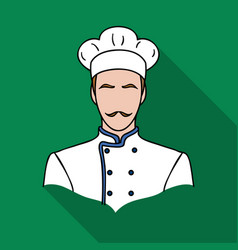 restaurant chef icon in flat style isolated on vector image
