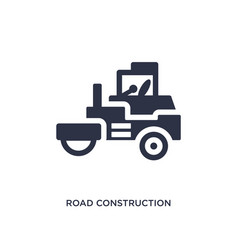 Road construction icon on white background simple vector