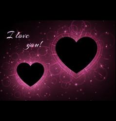 romance frame background vector image