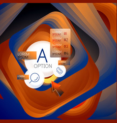 Rotating swirl square background color rectangles vector