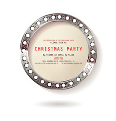 round christmas design vector image
