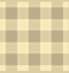 Seamless cloth - pastel beige and yellow tartan vector
