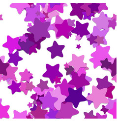 Seamless star background pattern - from purple vector