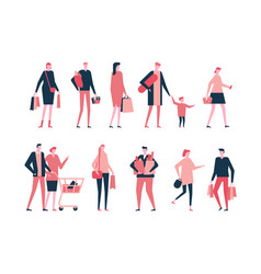 shopping - flat design style set of isolated vector image