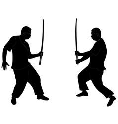 silhouette ninja vector image