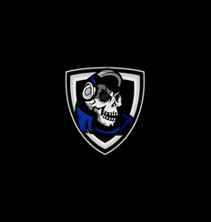 Skull gaming mascot vector