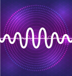 Sound and audio waveform design background vector