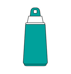 Spray sunscreen protection vector