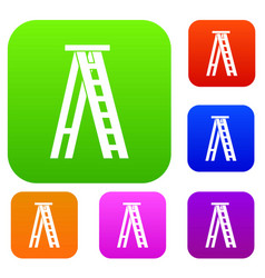 stepladder set collection vector image