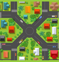 the top view is a map city district module vector image