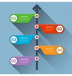 Timeline minimal infographics banner vector image