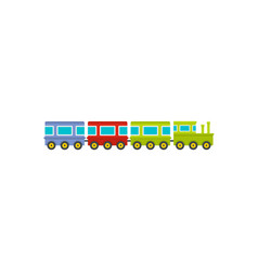 train icon flat style vector image