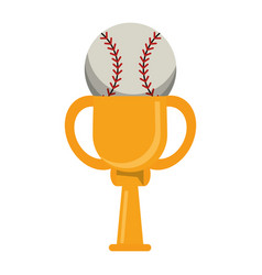 trophy ball baseball winner vector image