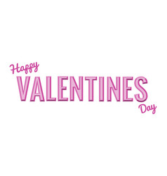 volume word valentine vector image