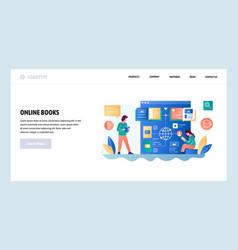 web site design template online reading vector image
