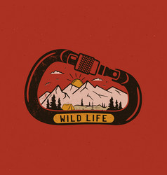 Wild life logo design print mountain adventure vector