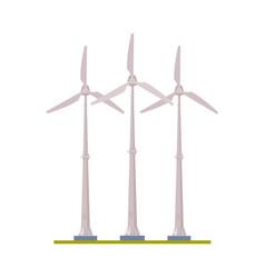 wind turbines eco green energy alternative power vector image