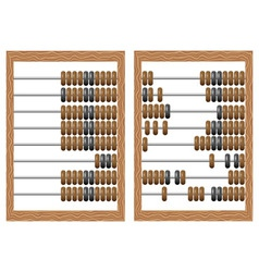 Wooden counting frame vector image