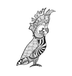 Zentangle stylized cockatoo Sketch for tattoo or vector image