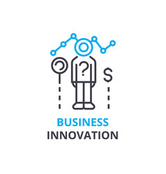 business innovation concept outline icon linear vector image