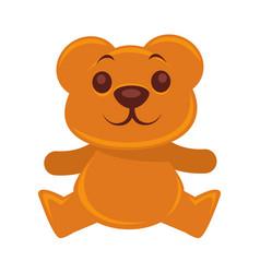 plush teddy bear isolated on vector image