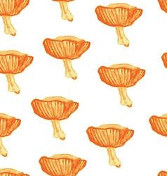 watercolor seamless pattern mushrooms vector image vector image