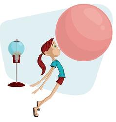 bubblegum girl vector image