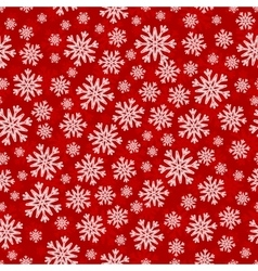 Christmas seamless pattern with white red vector image