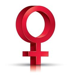 Female symbol vector image vector image