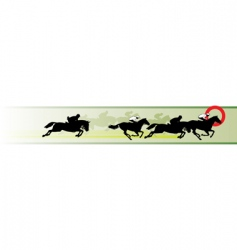 horse racing banner vector image