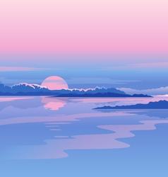 River Sunset Landscape vector image vector image
