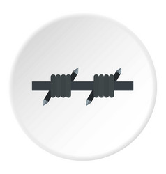 Barbed wire icon circle vector