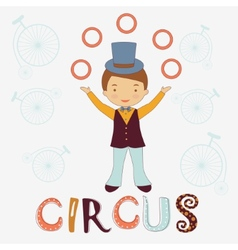 Circus card vector image vector image