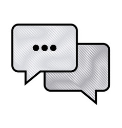 drawing bubble speech chat message image vector image vector image