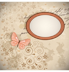 floral background with a butterfly vector image vector image