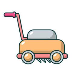 lawn mower machine icon cartoon style vector image