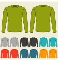 Set of templates colored sweatshirts for men vector image