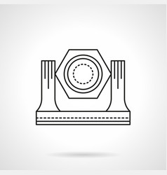 stage lighting equipment flat line icon vector image vector image