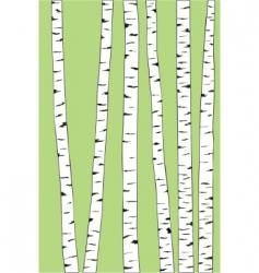 Birch trunk trees background vector