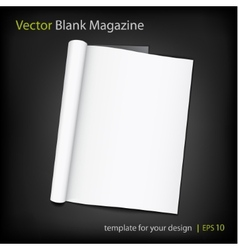 blank page of magazine on black background vector image