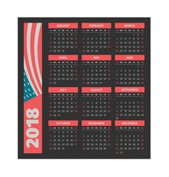 calendar 2018 template vector image vector image