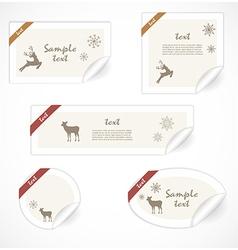 Christmas tags vector image